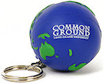 Earth Ball Keyring Stress Balls